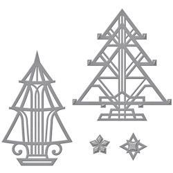 S4657 Spellbinders Shapeabilities Dies Art Deco Trees