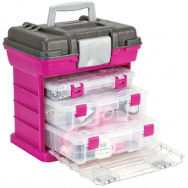 045521 Creative Options Grab`n Go 3-By Rack System Magenta/Sparkle Gray