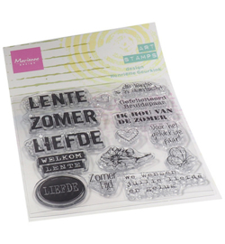 MM1638 Marianne Design Art stamps Zomertijd