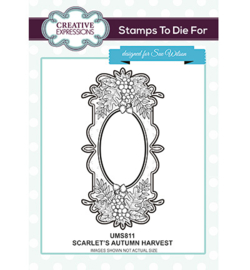 UMS811 To Die For Stamp Scarlet's Autumn Harvest