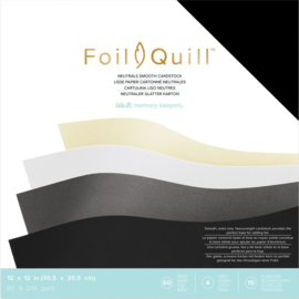 """661017 We R Memory Keepers Foil Quill Cardstock Neutrals/Smooth 12""""X12"""" 60/Pkg"""