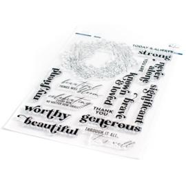 "651221 Pinkfresh Studio Clear Stamp Set Known & Loved 6""X8"""