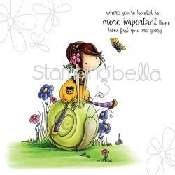 """489164 Stamping Bella Cling Rubber Stamp Tiny Townie Sally & Her Snail 6.5""""X4.5"""""""