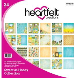"HCDP1 291 Heartfelt Creations Double-Sided Paper Pad Sweet As Honey12""X12"" 24/Pkg"