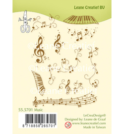 555701 Clear Stamp Combi Music