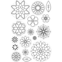 "252078 Hero Arts Clear Stamps Blossoms For Coloring 4""X6"""