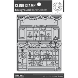 """664543 Hero Arts Cling Stamp Gift Shop Background 4.5""""X5.75"""""""