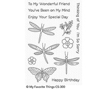 CS-300 My Favorite Things Fluttering Friends Clear Stamps