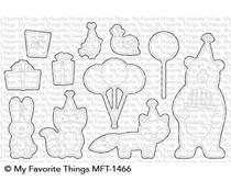 MFT-1466 My Favorite Things Birthday Bear & Friends Die-Namics