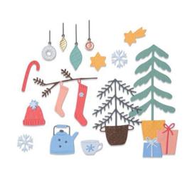 664497 Sizzix Thinlits Die Set Christmas Cheer  Olivia Rose