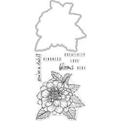 252051 Hero Arts Florals Stamp & Cut Dahlia