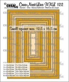 CLNestXXL122 Crealies Crea-nest-dies XXL Rechthoeken met vierkante gaatjes