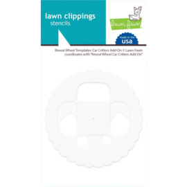 LF2341 Lawn Clippings Stencils Reveal Wheel: Car Critters Add-On