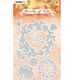 SL-BF-CD58 StudioLight Cutting Die Wreath of leaves Beauty of Fall nr.58