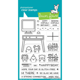 """LF2504 Lawn Fawn Clear Stamps Virtual Friends  4""""X6"""""""