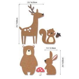 664593 Sizzix Bigz Die - Forest Friends Olivia Rose