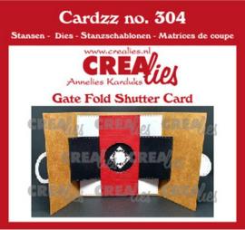 CLCZ304 Crealies Cardzz Gate fold shutter