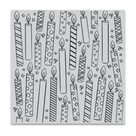 """659552 Hero Arts Cling Stamps Candles Bold Prints 6""""X6"""""""