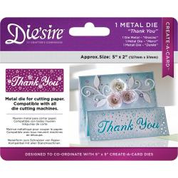 "376037 Die'ssire Create-A-Card Interchangeable Die Thank You, 2""X5"""