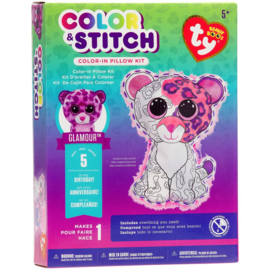 047035 Beanie Boos Color & Stitch Pillow Kit