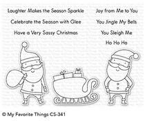 CS-341 My Favorite Things Sassy Santa Clear Stamps