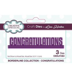 CEDLH1064 Cutting & embossing Congratulations