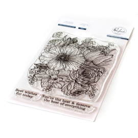 """PF121721 Pinkfresh Studio Clear Stamp Set Best Of Everything Floral  4""""X6"""""""