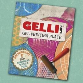GL8round Gelli Arts Printing Plates 8 inch Round x 3/8 inch Plate