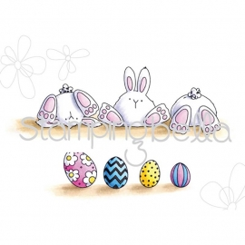 301794 Stamping Bella Cling Stamp Row Of Bunny Wobbles