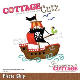 "CC764 CottageCutz Dies Pirate Ship 3.5""X3.7"""