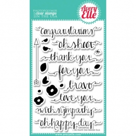 297567 Avery Elle Clear Stamp Set Oh Happy Day