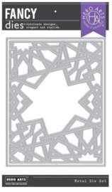 654826 Hero Arts Fancy Dies Geometric Sun Cover Plate