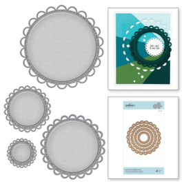 S4910 Spellbinders Nestabilities Open Scallop Edge Circles Etched Dies