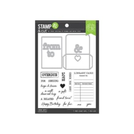 652508 Hero Arts Stamp & Cut Library Card XL