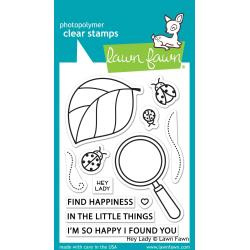 """LF2223 Lawn Fawn Clear Stamps Hey Lady 3""""X4"""""""