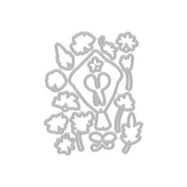 621717 Hero Arts Fancy Dies Flower Bouquet Pieces