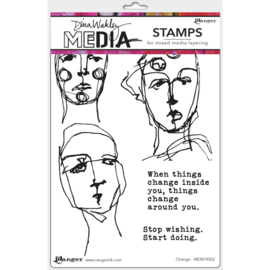 "638846 Dina Wakley Media Cling Stamps Change 6""X9"""