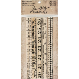 TH93565 Idea-Ology Wooden Ruler Pieces 5/Pkg