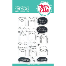 "559117 Avery Elle Clear Stamp Set Peek-A-Boo Pets 4""X6"""