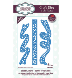 CED1351 Creative Expressions Dotty Streamers