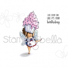 301756 Stamping Bella Cling Stamp Edna With A Cupcake On Top