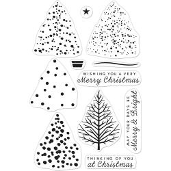 "520951 Hero Arts Clear Stamps Color Layering Christmas Tree 4""X6"""