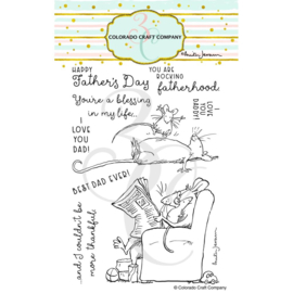 "654868 Colorado Craft Company Clear Stamps For Dad-By Anita Jeram 4""X6"""