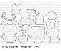 MFT-1490 My Favorite Things Cute Critters Die-Namics