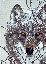 400671 Borduurpakket Winter Wolf