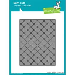 LF1625 Lawn Cuts Custom Craft Die Quilted Backdrop