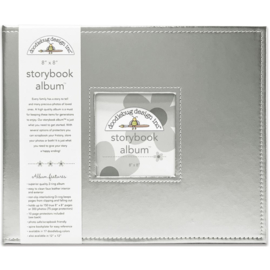 "095208 Doodlebug Storybook Album Silver 8""X8"""