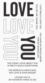 CS-537 My Favorite Things Love You Big Time Clear Stamps