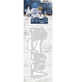 STENCILSA221 - Cutting and Embossing Die Cut, Snowy Afternoon nr.221