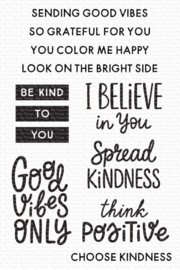 CS-531 My Favorite Things Good Vibes Only Clear Stamps